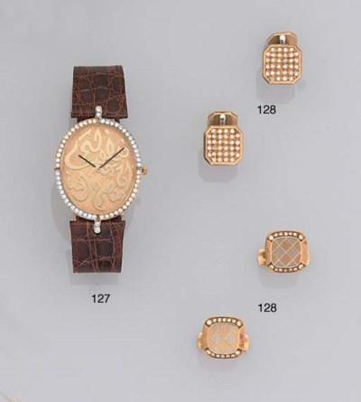 Two pairs of diamond-set cuffl