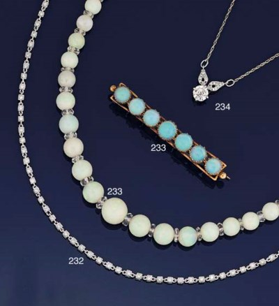 A small group of opal jeweller