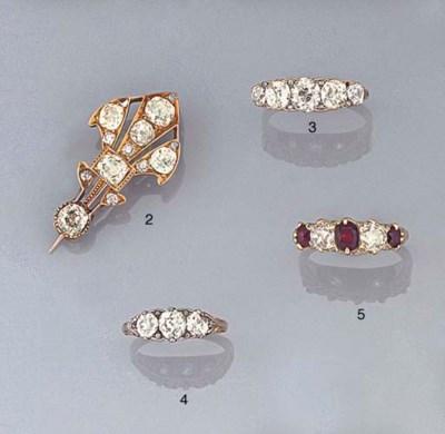 A LATE 19TH CENTURY DIAMOND TH