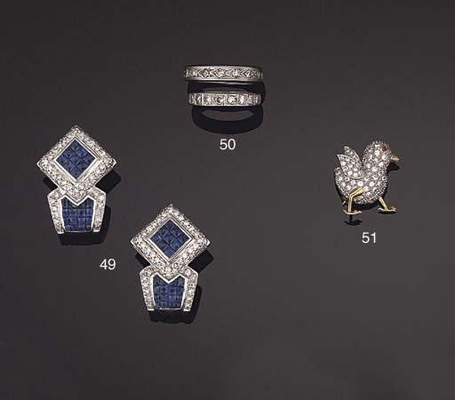 Two diamond eternity rings