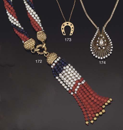 A pendant necklace, by Van Cle