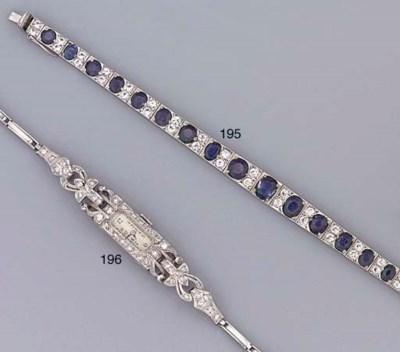 A sapphire line bracelet
