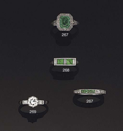 A diamond and emerald eternity