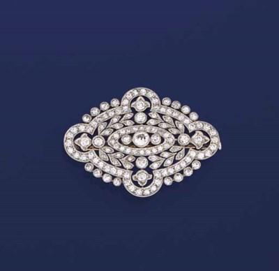 A belle epoque diamond brooch