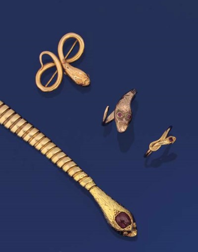 A GROUP OF SERPENT JEWELS