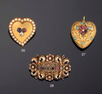 AN EARLY 19TH CENTURY GOLD AND