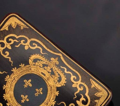 A SET OF LACQUERED GAMING BOXE