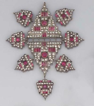 A GROUP OF ART DECO DIAMOND AN