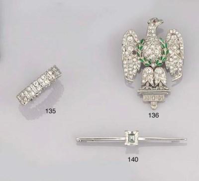 A DIAMOND, ENAMEL AND GEM REGI