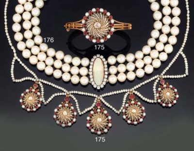 A LATE VICTORIAN PEARL, RUBY A