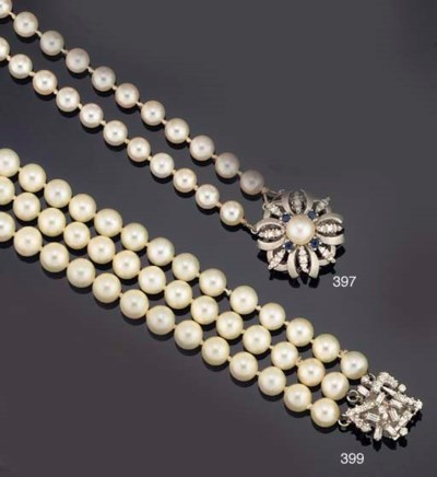 A three row cultured pearl nec