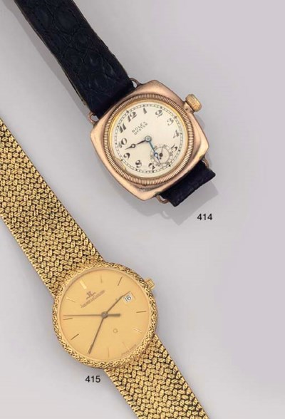 A 9CT. GOLD OYSTER WRISTWATCH,