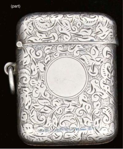 Six silver vesta cases