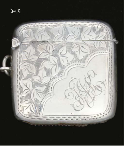 Five silver vesta cases