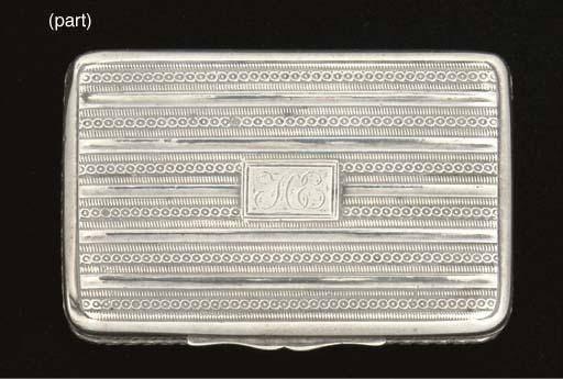 A George III snuff box