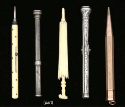 Three ivory needlecases