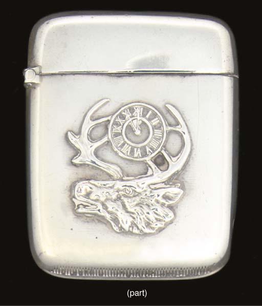 Four silver vesta cases