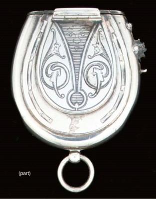 A Victorian combination vesta