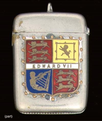 Three silver vesta cases