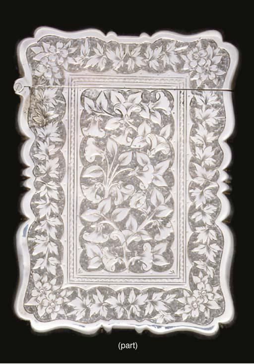 An Edwardian card case