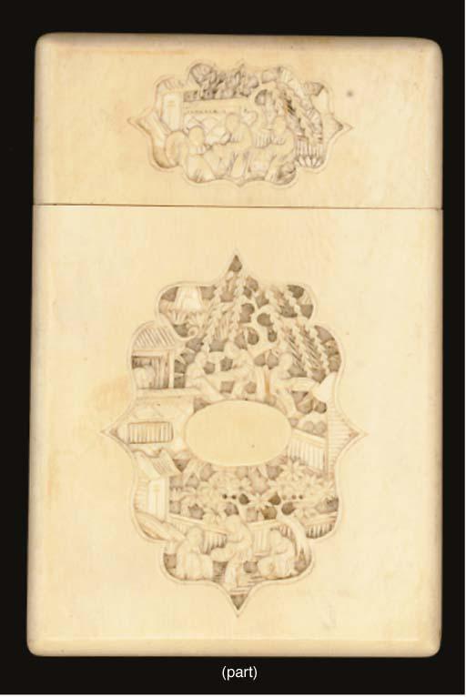 An ivory card case