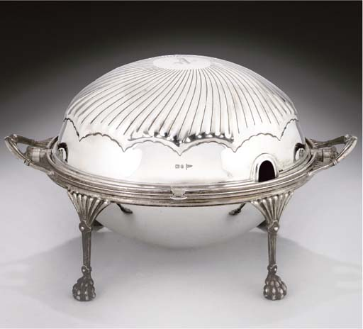 AN EDWARDIAN SILVER TURN-OVER