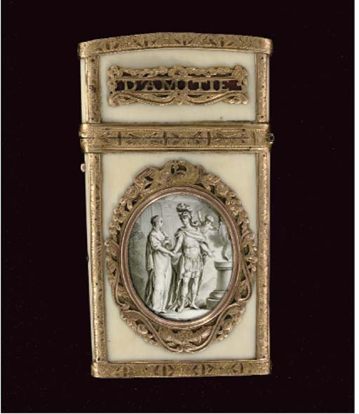 A Louis XVI gold-mounted ivory