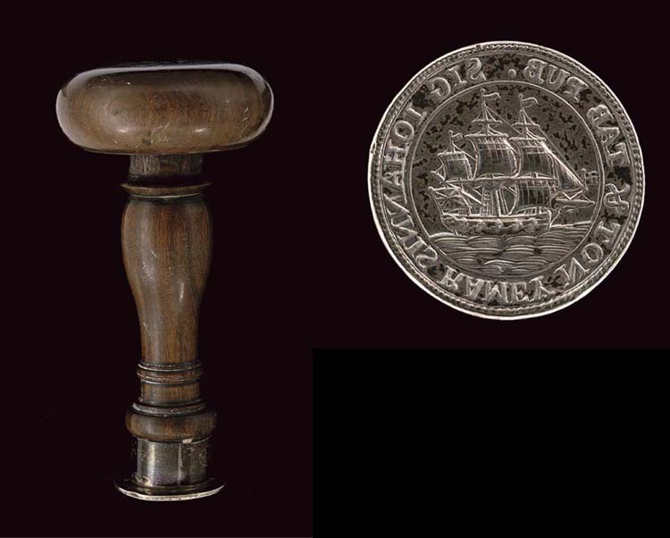 A GEORGE III SILVER SEAL WITH