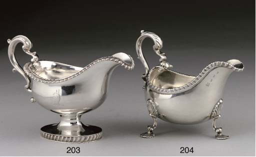 A GEORGE IV SILVER SAUCEBOAT,