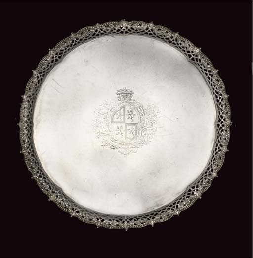 A LARGE GEORGE III SILVER CAST