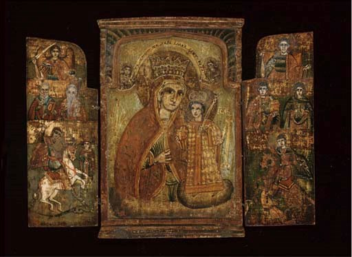 A TRIPTYCH WITH THE MOTHER OF
