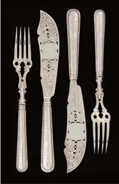 SIX PAIRS OF VICTORIAN SILVER