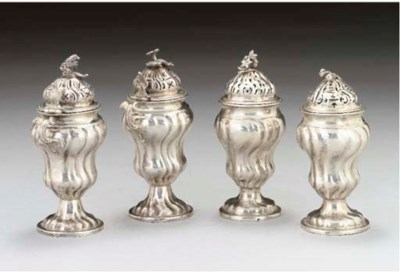 TWO PAIRS OF 18TH CENTURY GERM