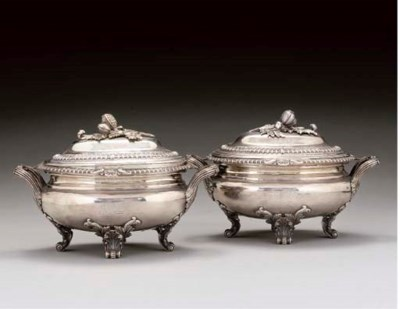 A PAIR OF WILLIAM IV SILVER CO
