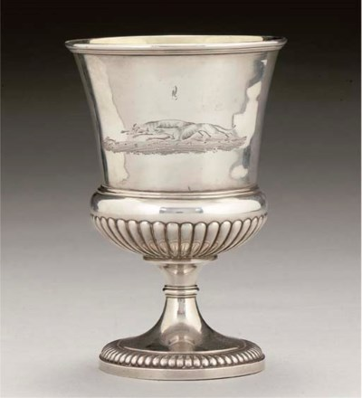 A GEORGE IV SILVER HARE COURSI