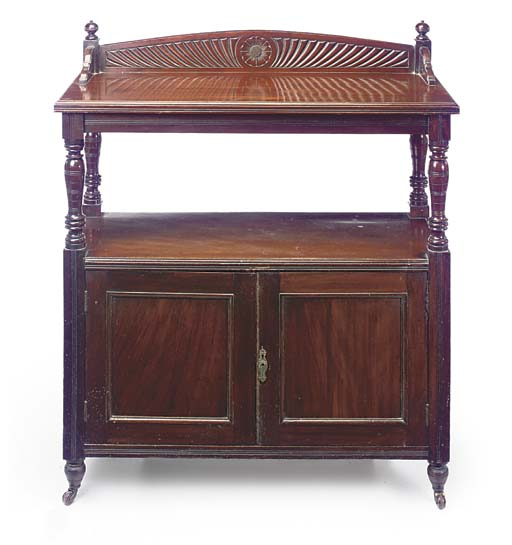 A LATE VICTORIAN WALNUT BUFFET