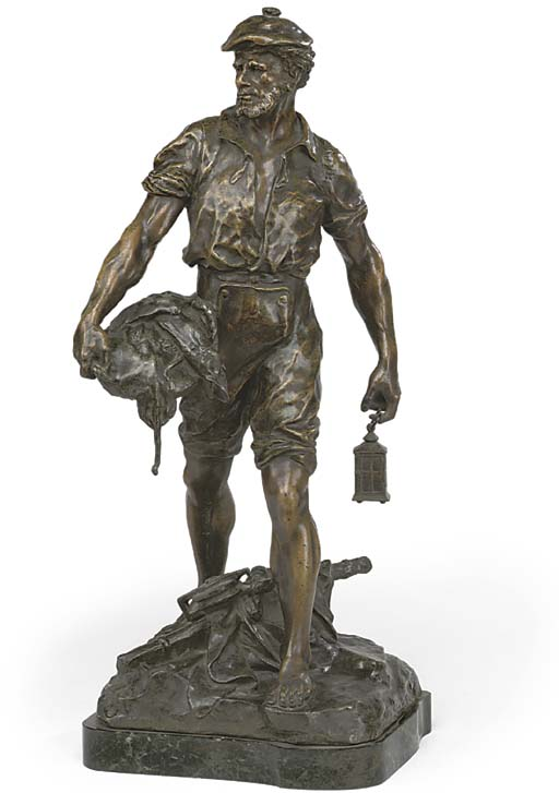 A SPELTER MODEL OF A FRENCH FI