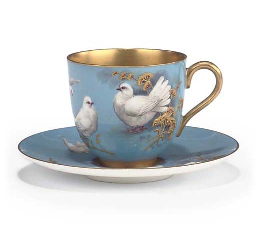 A ROYAL WORCESTER SKY-BLUE-GRO