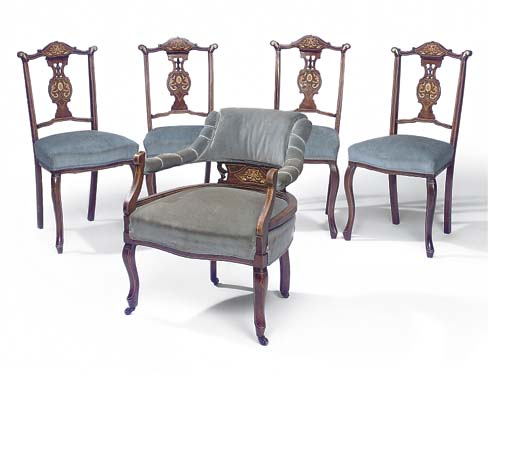 A SET OF FIVE LATE VICTORIAN M