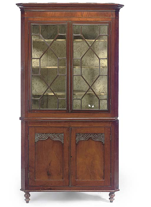 AN EARLY VICTORIAN MAHOGANY CO