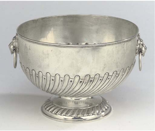 A LATE VICTORIAN SILVER PUNCH
