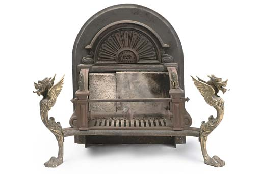 A LATE VICTORIAN CAST IRON AND