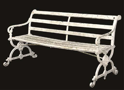 A CAST IRON GARDEN SEAT