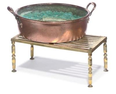 A BRASS WARMING PAN
