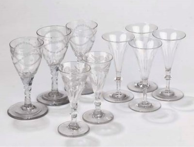 A COLLECTION OF DRINKING GLASS