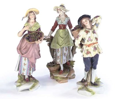 THREE SAMSON PORCELAIN FIGURES