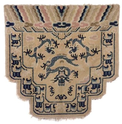 A CHINESE 'THRONE COVER' WOOL