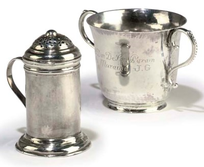 A GEORGE II SILVER KITCHEN PEP