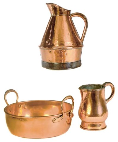 A COLLECTION OF COPPER ITEMS