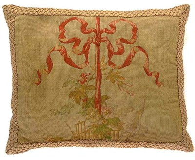 FOUR FRENCH AUBUSSON STYLE CUS